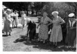 Breaking ground for the Daughters of Utah Pioneers Relic Hall in Robinson Park, American Fork,...