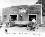 Charlie Whiting's Blacksmith Shop circa 1914