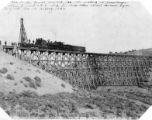 Denver & Rio Grande Western Railroad bridge and tunnel drilling equipment.