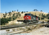 Eastbound Southern Pacific Manifest train at Tehachapi Loop