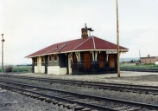 Denver and Rio Grande Western train depot at Antonito Colorado.