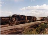 Three Denver and Rio Grande Western GP-30's  awaiting to go to Elberta, Utah.