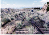Carbon County Railway at the switches where the Horse Canyon load out was located, J.D. Thompson in photo.