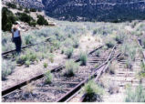 Carbon County Railway at the switches where the Horse Canyon load out was located, Raeleen Maxfield in