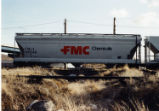FMC (Food Machinery and Chemical Corporation) covered hopper, Evanston, Wyoming.