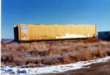 Union Pacific autorack car for hay loading at Delta, Utah.