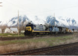 CSX unit leading Denver and Rio Grande Western KCROM (Kansas City, Roper Merchandise)