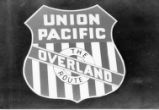 Union Pacific Overland Route emblem on the DS 1000, located at Heber Valley, Utah