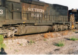 Tank detail on Southern Pacific SD-45T-2 No. 9333