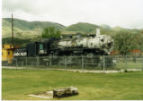 Retired Union Pacific engine No. 2005 in a park in Pocatello, Idaho.