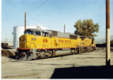 Union Pacific locomotives sitting in the Union Pacific Service area, Provo, Utah