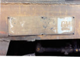 Builder plate for Denver and Rio Grande Western tunnel motor No. 5356