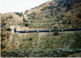 Southern Pacific oil tanker train called the Oil Can, near Tehachapi, California