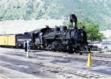 Silverton bound train getting ready to leave Durango, Colorado.
