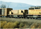 Union Pacific slug S-7 in an eastbound Union Pacific train south of Stockton, Utah.