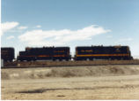 Denver and Rio Grande Western SD-9s No. 5309 and No. 5305 work the Grand Junction, Colorado Hump