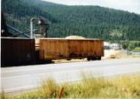 San Luis Central boxcar at lumber mill
