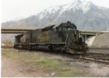 Denver and Rio Grande Western SD-40T-2s on the Tintic Lead, Springville, Utah