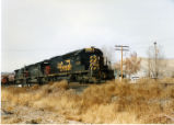 Eastbound Denver and Rio Grande Western train at Maxwell, Utah.