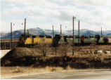 Kennecott Copper Train leaving Copperton, Utah yard.