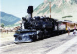 Former Denver and Rio Grande Western K-28 #478 in Silverton, Colorado.