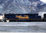 Denver and Rio Grande Western EMD SD-50 at the Union Pacific service area in Provo, Utah.