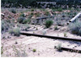 Carbon County Railway damaged track.