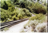Wasatch Mountain Railway, end of track at Bridal Veil Falls.