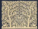 Briggs, Rachel Amelia Tuttle, paper cutting made by her and given as a Valentine