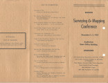 Surveying and Mapping Conference Brochure in 1963