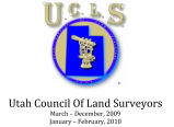 Utah Council of Land Surveyors Calendar, Front Cover
