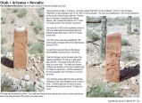 Sandstone Monument marking the point common to Arizona, Nevada, and Utah. April 2009