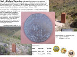 Utah-Idaho-Wyoming: the monument that marks the intersection point of Utah, Idaho, and Wyoming. July