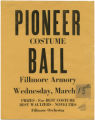 Pioneer Costume Ball poster