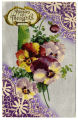 Postcard, 'Pansies for Thoughts'