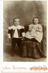Ethel Warner Stott and brother