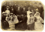 Photo of twenty people including Ira Noble Hinckley