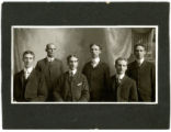 Six sons of William and Mary Henry King; Elmer, Harvey, Arthur, Bert, Lester, and Claude King