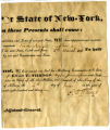Vinson Knight, document commissioning him Captain in military in New York State, 1831
