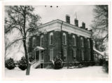 Territorial Statehouse Building in Snow
