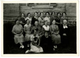 Sixteen women Posing in Front of Territorial Statehouse, Fillmore, Utah