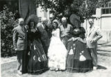 Centennial Day royalty and older men, Fillmore's Utah Centennial Celebration, 1847-1947