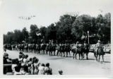 Horse riders in parade. Fillmore's Utah Centennial Celebration, 1847-1947