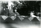Parade float with young women, Fillmore's Utah Centennial Celebration, 1847-1947