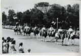 Horses and riders in parade, Fillmore's Utah Centennial Celebration, 1847-1947