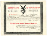 Citizenship Certificate for Peter Person