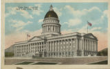 Postcard of Utah State Capitol Building in Salt Lake City, Utah, without flower beds.