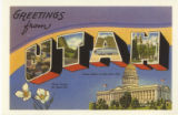 'Greetings from Utah' postcard copy