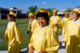 Commencement Exercises Yellow Cap and Gown 01