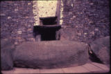 "British Isles - Ireland - New Grange, entrance, spiral stone, and ""roof box"""